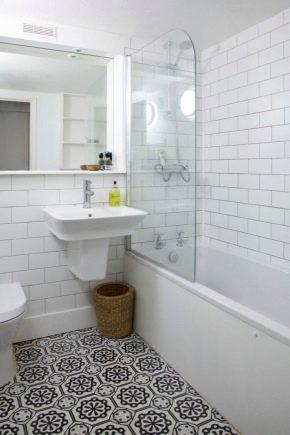 белая плитка в ванной 66 фото глянцевый кафель на пол и матовые