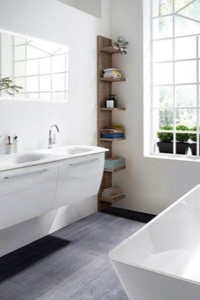 Европейская мебель для ванной комнаты: разнообразие моделей