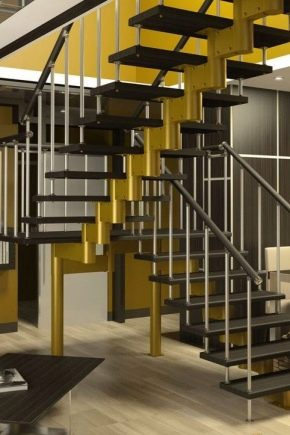 Металлические поворотные лестницы с забежными ступенями: особенности и преимущества