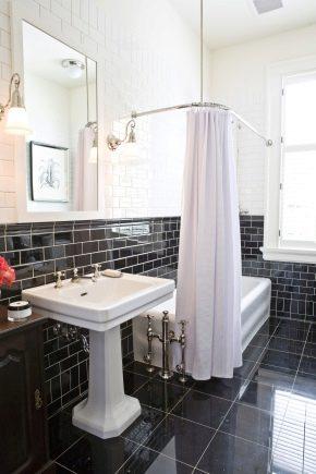 Угловой карниз для ванной штанга для шторы Г образный
