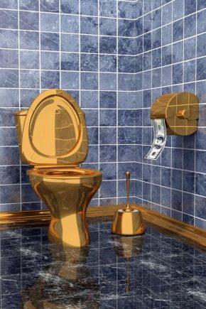 Золотые унитазы: роскошное украшение ванной комнаты