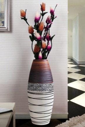 Как сделать напольную вазу своими руками из банки