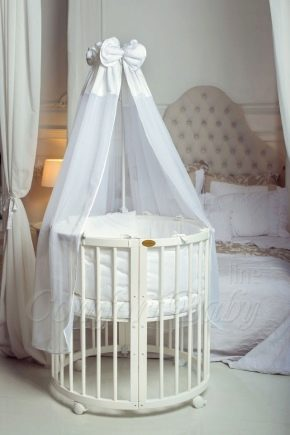 Круглая детская кроватка: виды и советы по выбору