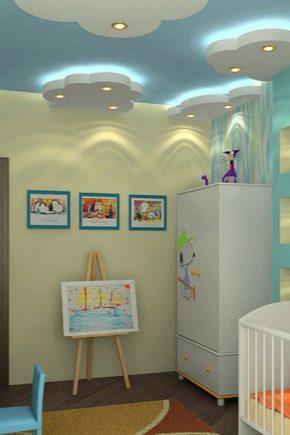 Варианты оформления натяжных потолков в детской комнате