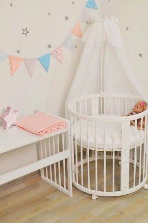 Выбираем круглую кроватку для новорожденных