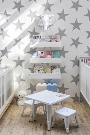 Обои в детскую комнату со звездами