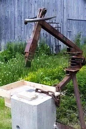 Чертеж дровокола механического пружинного