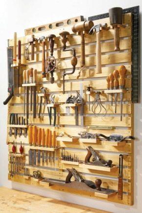 Органайзеры для инструментов: выбор модели и изготовление своими руками