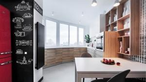 Дизайн балкона, совмещенного с кухней