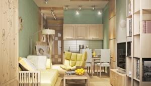 Дизайн квартиры-студии площадью 23 кв. м