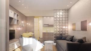 Дизайн квартиры-студии площадью 28 кв. м.
