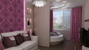 Дизайн спальни-гостиной площадью 18 кв. м
