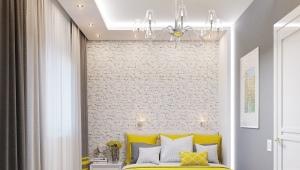Дизайн спальни площадью 16 кв. м