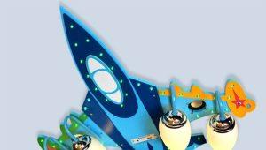 Креативные люстры в виде самолета