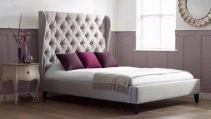 Кровати с высоким изголовьем