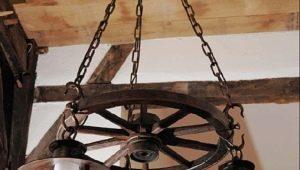 Люстры в виде колеса