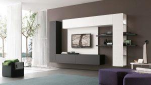 Мебельные стенки под телевизор в современном стиле