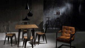 Дизайн стульев в стиле «лофт»