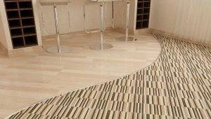 Как правильно оформить стык плитки и ламината?