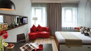 Модный дизайн комнаты площадью 18 кв.м