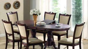 Овальные раскладные столы в интерьере