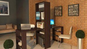 Письменный стол со стеллажом – компактная мебель в комнату