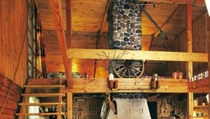 Русский стиль: планировка дома размера 6x6 м с печкой