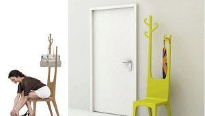 Стул-вешалка – оригинальная деталь для компактной квартиры