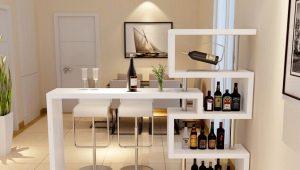 Высокие барные столы в интерьере