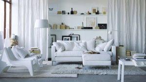 Белая гостиная: красивые идеи оформления интерьера
