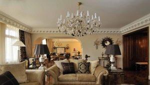 Дизайн интерьера в классическом стиле: выбираем люстру