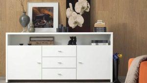 Длинные комоды для гостиной: дизайн моделей и советы по выбору