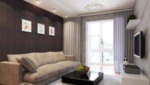 Красивый дизайн интерьера гостиной площадью 15 кв. м