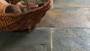 Напольная плитка под камень: оригинальные идеи оформления пола