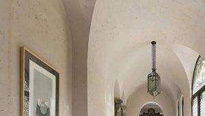 Напольная плитка в форме ромба в интерьере