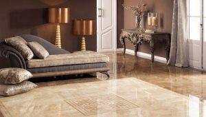 Плитка на полу в гостиной: практичные идеи для интерьера