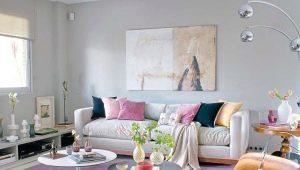 Правила сочетания цветов в интерьере гостиной