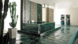 Зеленая напольная плитка: красивые идеи для стильного интерьера
