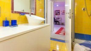 Желтая напольная плитка: яркие акценты в интерьере