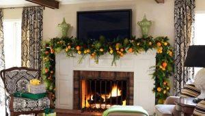 Идеи декора камина на Новый год и другие праздники