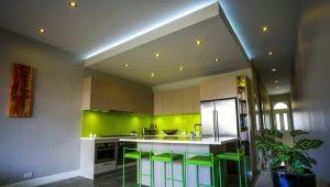 Как оформить потолок из гипсокартона с подсветкой?
