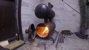 Печь для гаража на дровах: изготовление своими руками