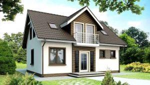 Самые популярные проекты домов размером 7 на 9 м с мансардой