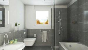Серая плитка в ванной: размеры, цветовые оттенки и идеи дизайна