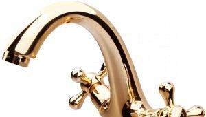 Смесители золотого цвета: богатство и роскошь интерьера