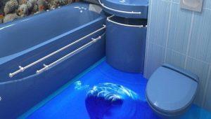 3D-полы: оригинальные идеи оформления ванной