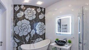Черно-белая ванная комната: оригинальные идеи оформления интерьера