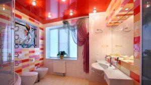 Как оформить потолок в ванной комнате?