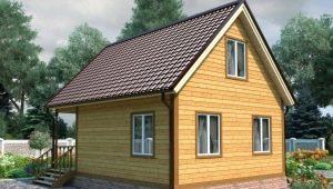 Красивые проекты домов из бруса размером 6 на 8 метров
