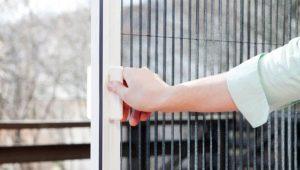 Москитные сетки плиссе: характеристики и использование
